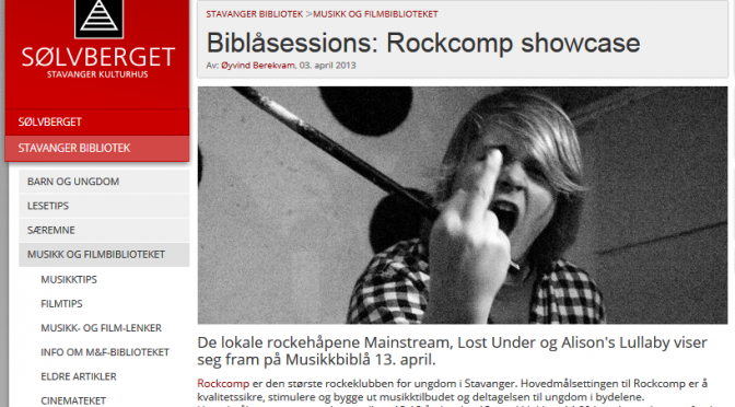 Rockcomp Showcase – Biblå sessions lør. 13 april kl. 14:00
