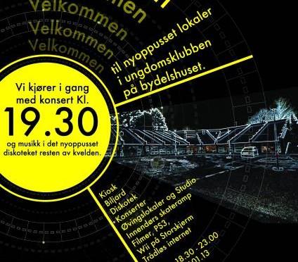 Nyåpning av klubben på Tasta fre 17 januar kl. 18:00 // Konsert og diskotek