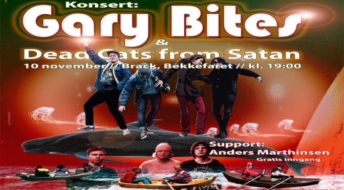 Konsert: GARY BITES og DCFS // Fredag 10 nov. 2017 kl. 19:00